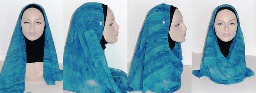 Хиджаб <em>пошаговое фото хиджаба</em> цвета морской волны