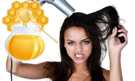 Маска для сухих волос с мёдом