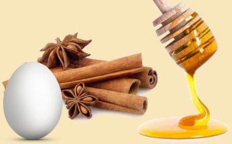 Маска для укрепления волос с мёдом и корицей