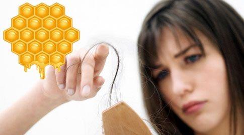 Маска от выпадения волос с мёдом
