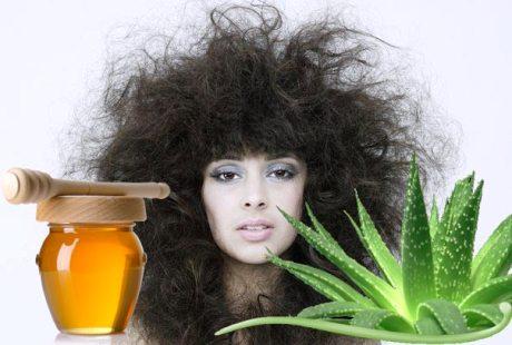 Маска с мёдом и алоэ для сухих волос