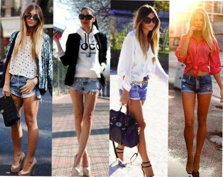 С чем носить джинсовые шорты на вечеринку