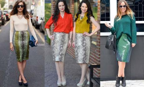 С чем носить юбку карандаш на прогулку?